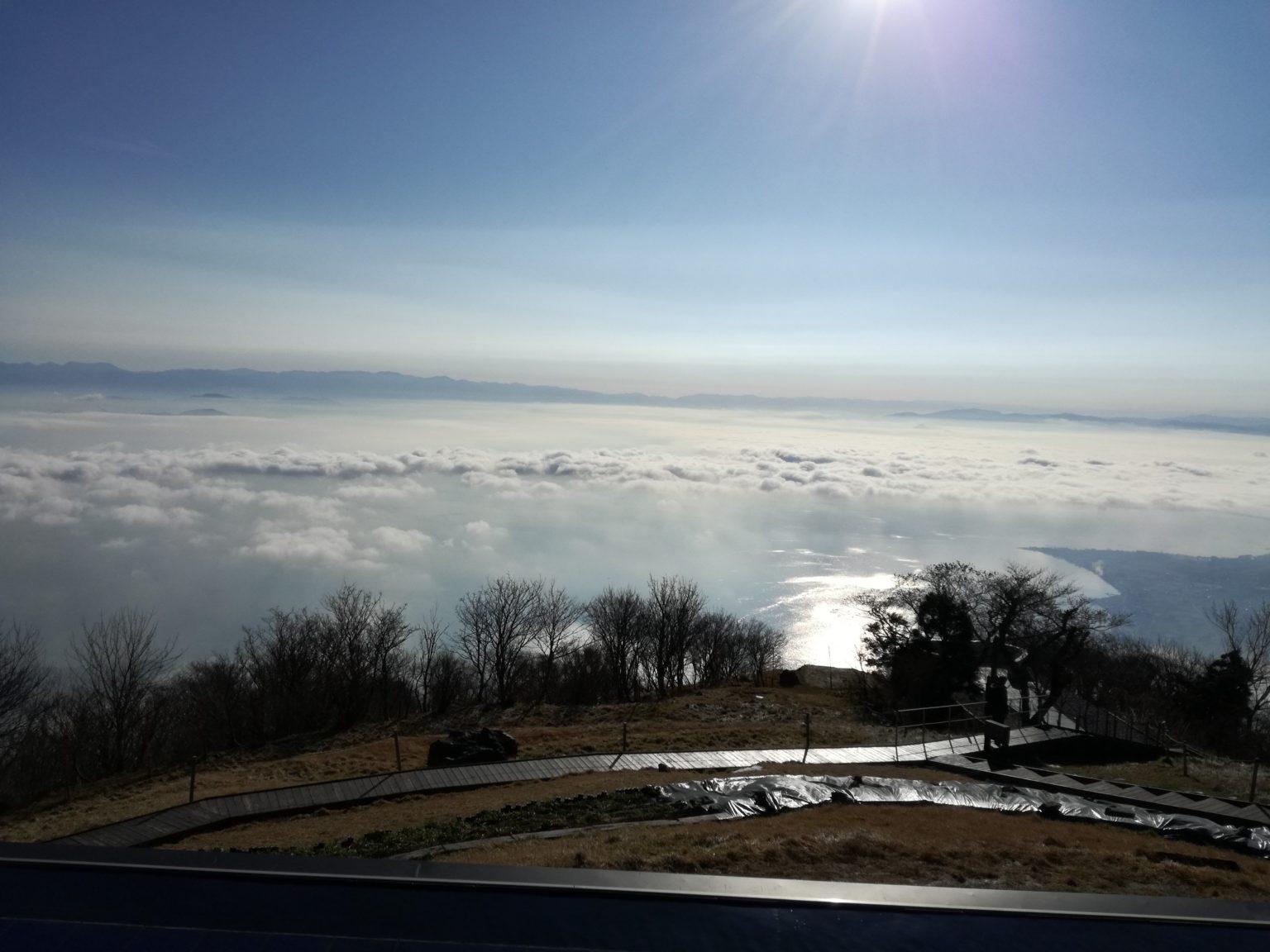 琵琶湖の雲海