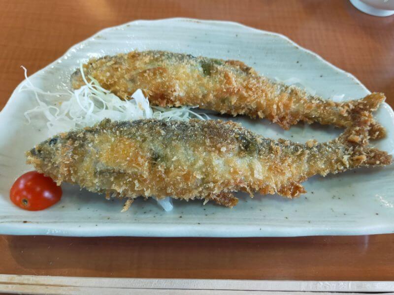 鮎料理やな川 鮎のフライ