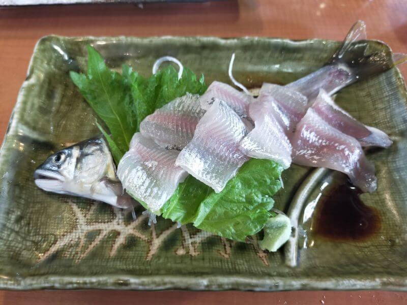鮎料理やな川 鮎の刺身