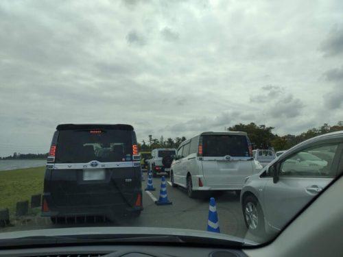 チューリップ祭の大渋滞
