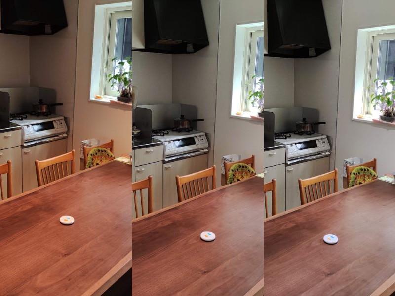 オーデリックOS256649BCRの調色による部屋の雰囲気の違い(昼間)