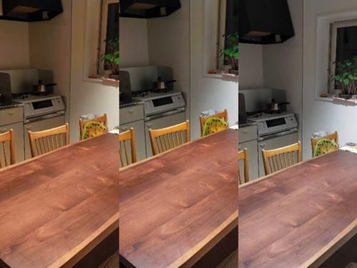 オーデリックOS256649BCRの調色による部屋の雰囲気の違い(夜間)