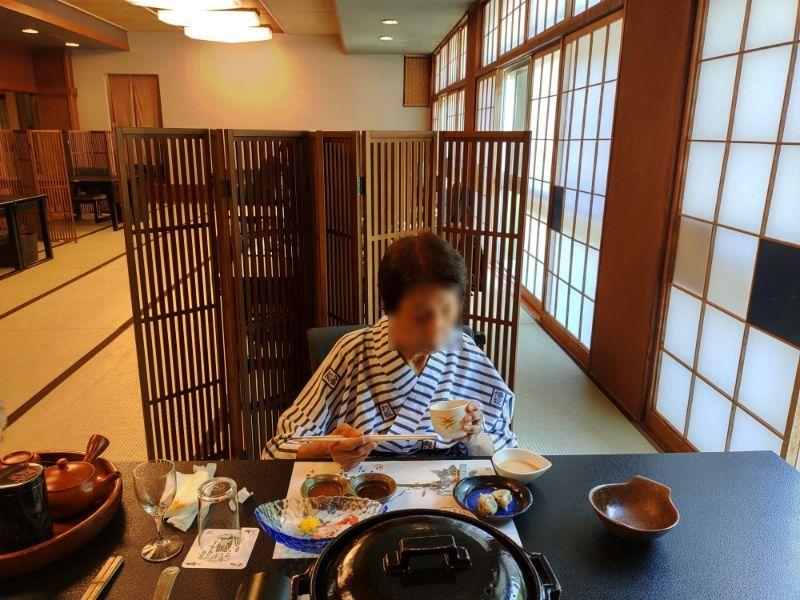 湯谷温泉「はづ別館」での昼食