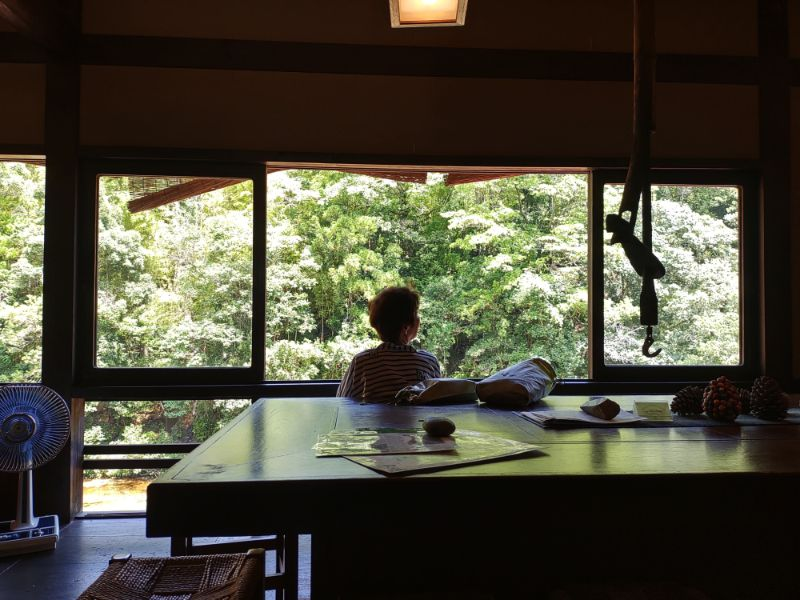 湯谷温泉「はづ別館」の窓から見える景色